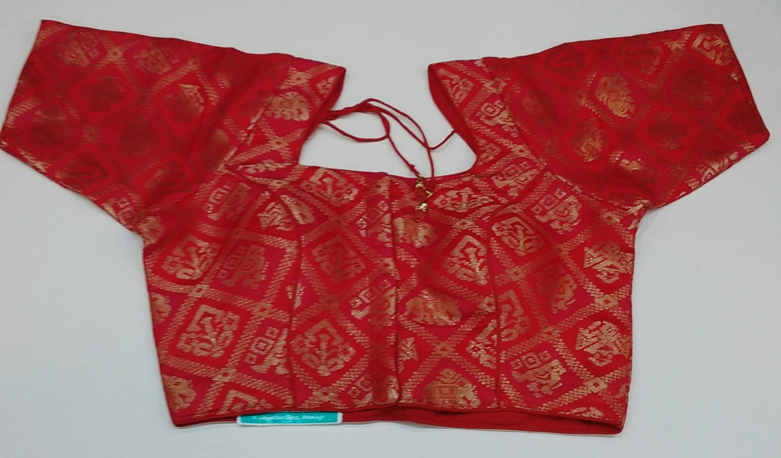 160584 $28.00 RED FANCY SAREE BLOUSE SIZE 34