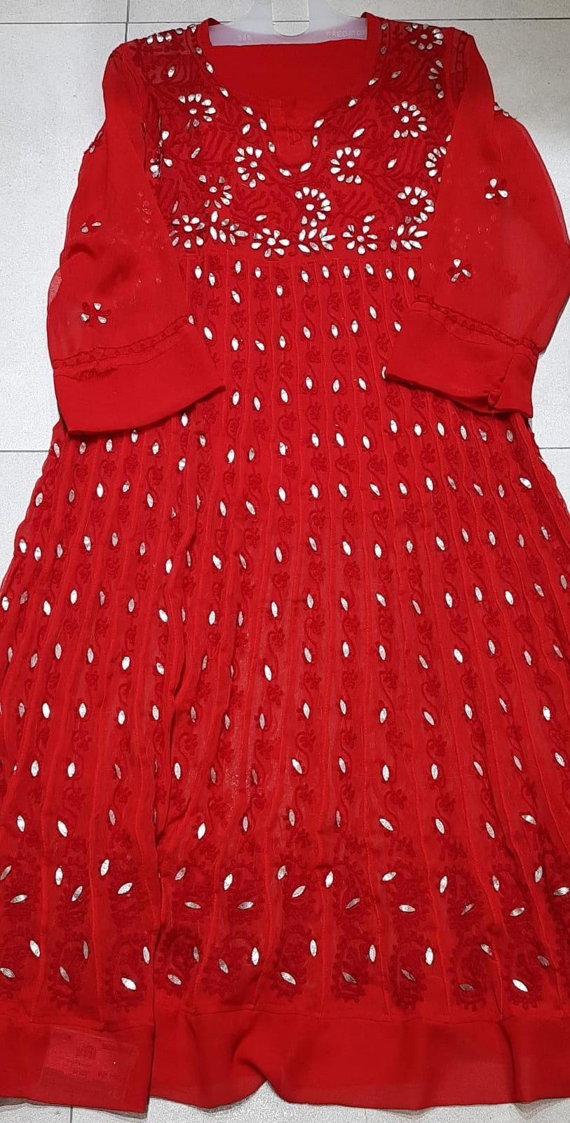 1604956 $72.00 Red Partywear Long dress size L, XL